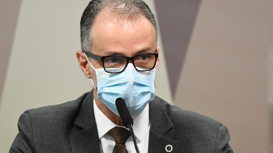 11.mai.2021 - Antonio Barra Torres, diretor-presidente da Anvisa, em depoimento à CPI da Covid no Senado Federal - Jefferson Rudy/Agência Senado