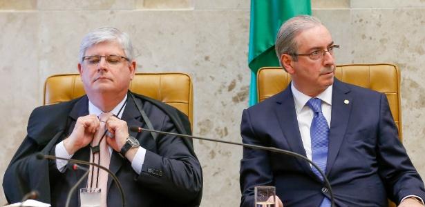 Para Cunha (à dir.), Janot quer constranger parlamentares que defendem sua absolvição
