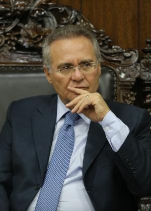 O presidente do Senado, Renan Calheiros (PMDB-AL), recebe governadores para discutir o pacto federativo en seu gabinete