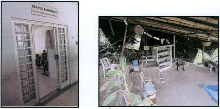 Há um templo localizado dentro do presídio, onde os policiais podem fazer suas orações, independentemente da religião
