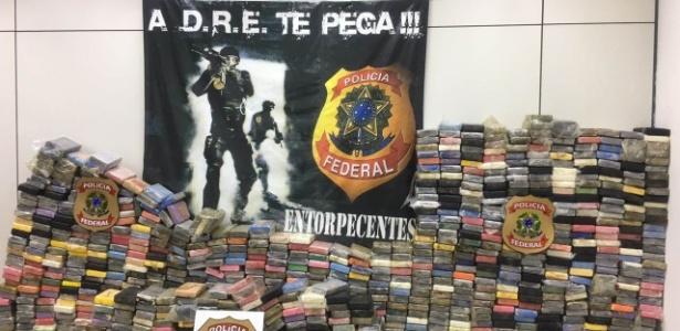 2.mar.2018 - Uma tonelada e meia de cocaína pura foi aprendida no porto do Rio em março
