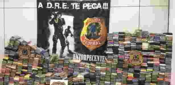 Cocaína estava em 48 malas em dois contêineres no porto do Rio - Reprodução/Polícia Federal