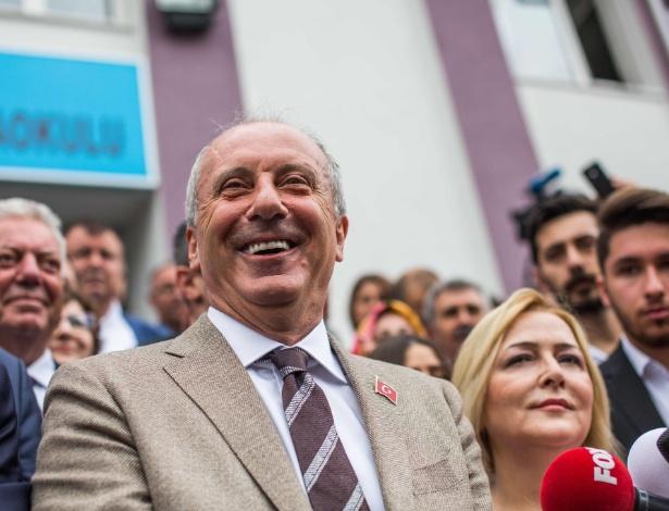 Deputado Muharrem Ince, candidato nas eleição presidencial turca deste domingo - Uygar Onder Simsek/AFP Photo