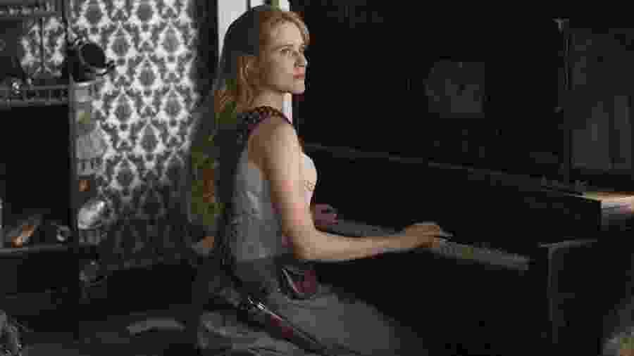 Evan Rachel Wood como Dolores na 2ª temporada de Westworld - Divulgação