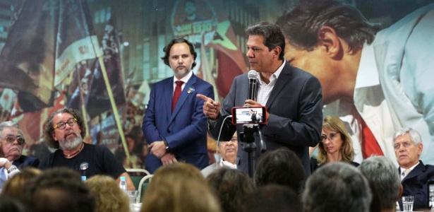 Fernando Haddad durante encontro com juristas São Paulo (SP)