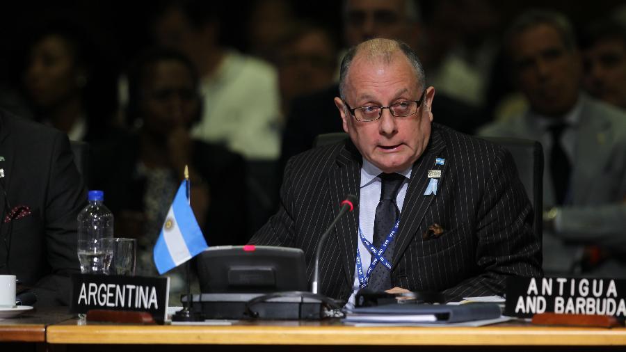 Ministro das Relações Exteriores da Argentina, Jorge Faurie, em reunião da OEA em junho de 2017 - Juan Manuel Herrera/OAS