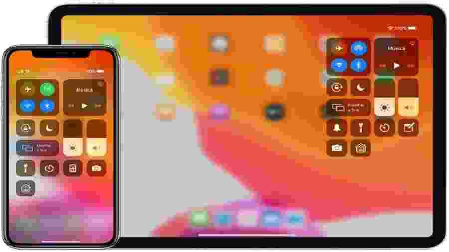 Centrais de controle do iOS (foto) ou Android podem ser editadas - Reprodução
