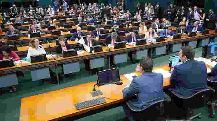 Sessão da CCJ foi marcada pelo bate-boca entre petistas e Eduardo Bolsonaro - Pablo Valadares/Câmara dos Deputados