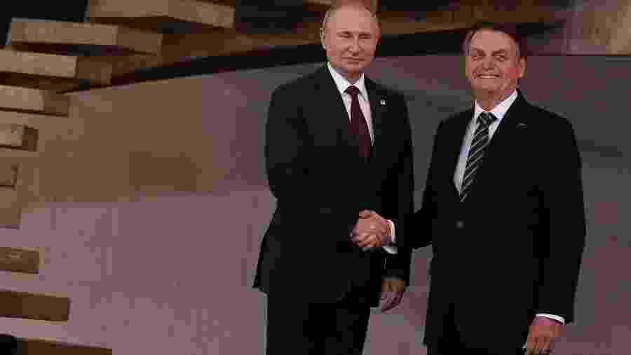 Bolsonaro e Putin posam juntos na reunião dos Brics - Pedro Ladeira/Folhapress