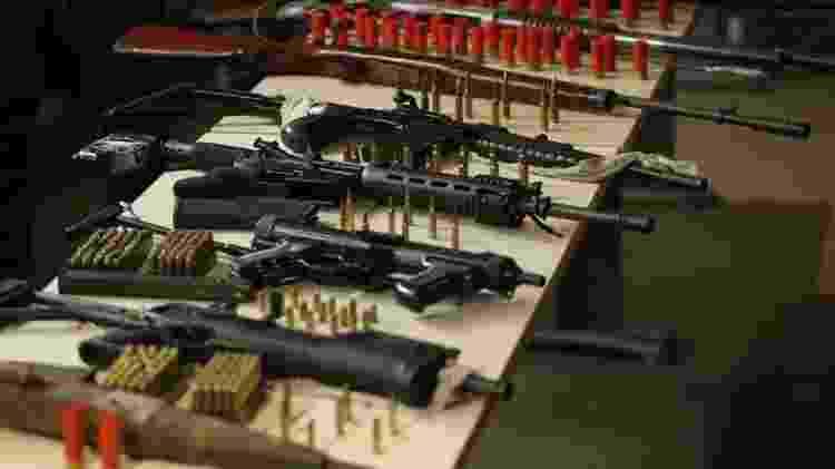 Armas e munições apreendidas pela polícia do Pará em 2018; críticos afirmam falta de marcação em munições dificultará combate ao crime - Thiago Gomes/Ag Pará