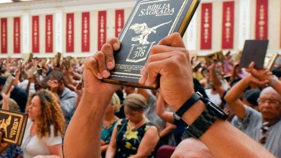 Culto no templo de salomão - Reprodução/Facebook Templo de Salomão