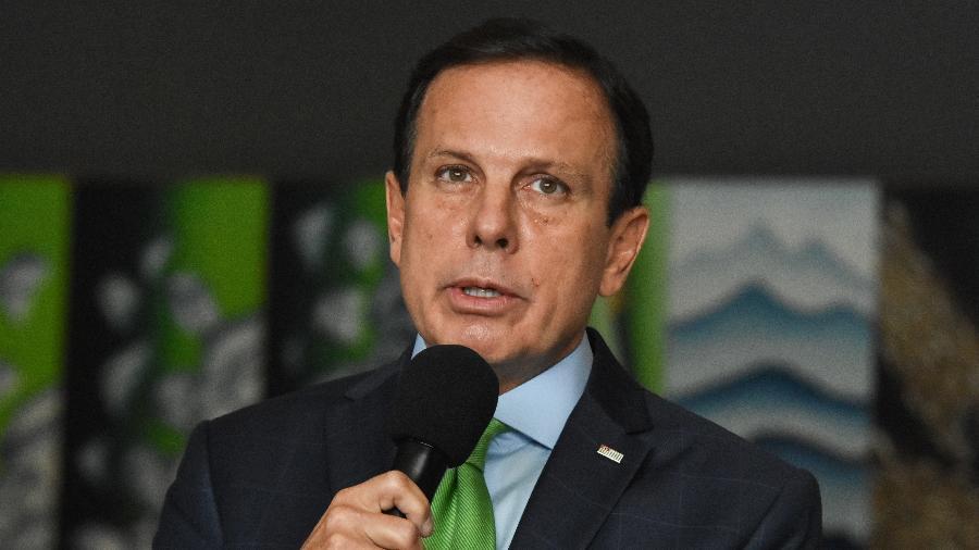 Governador João Doria (PSDB) durante entrevista coletiva - ROBERTO CASIMIRO/FOTOARENA/FOTOARENA/ESTADÃO CONTEÚDO