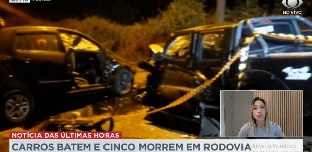 Carro e caminhonete colidiram   Acidente deixa 5 mortos em Mogi das Cruzes