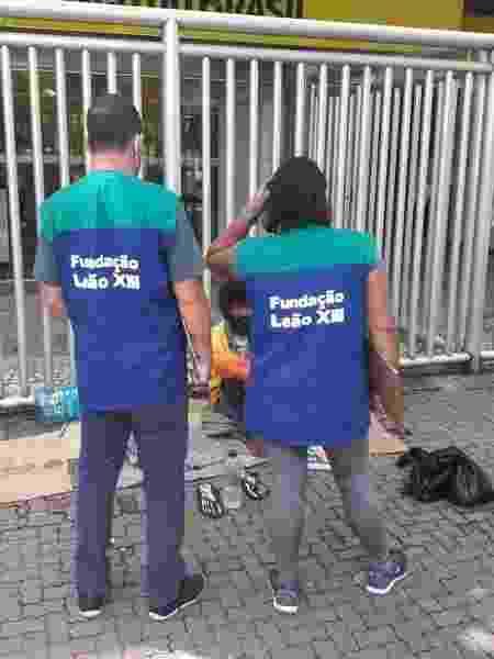 1º.dez.2020 - Carlos Eduardo vinha sendo acompanhado por um projeto de assistência a pessoas em situação de rua da Fundação Leão XIII nos últimos meses - Divulgação - Divulgação