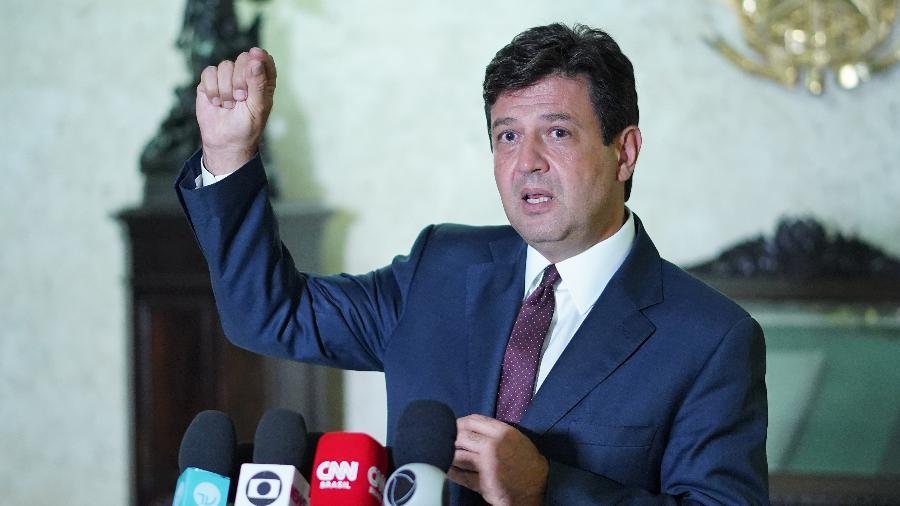 Luiz Henrique Mandetta foi o 1º ministro da Saúde do governo, tendo deixado o cargo em 16 de abril de 2020 - Pablo Valadares/Câmara dos Deputados