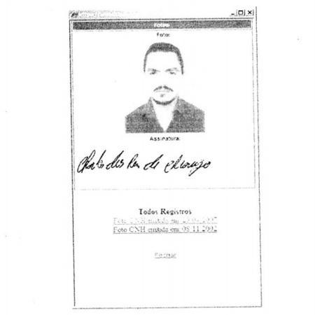 Imagem de documento de Charles de Araújo que consta em relatório do Denarc - Reprodução