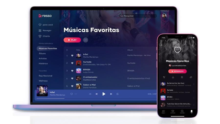 App Resso, serviço de streaming de música do TikTok, está disponível para smartphones e computadores - Divulgação