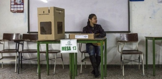 Dos cerca de 35 milhões de eleitores , apenas 13 foram às urnas na Colômbia
