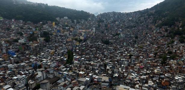 Vista geral da favela da Rocinha, na zona sul do Rio de Janeiro