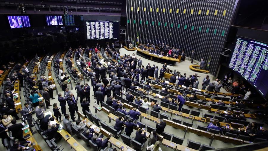 25.out.2017 - Plenário da Câmara dos Deputados durante a votação da segunda denúncia contra o então presidente Temer (MDB) - Luis Macedo/Câmara dos Deputados