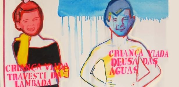 """Uma das pinturas da série """"Criança viada"""", de Bia Leite, que integrava a exposição Queermuseu, em Porto Alegre"""