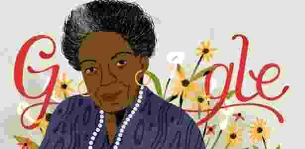 Maya Angelou em doodle do Google - Reprodução - Reprodução