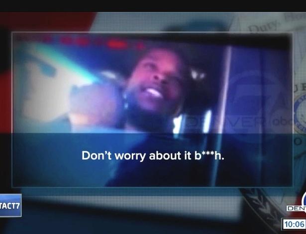 Michael Hancock xingou o policial que o abordou por excesso de velocidade