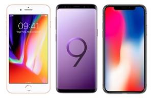 S9+, iPhone X e iPhone 8 Plus: qual celular poderoso é o melhor? (Foto: Arte/UOL)