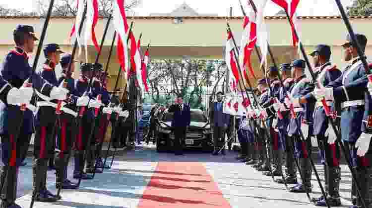 22.jan.2019 - Presidente em exercício, Hamilton Mourão participa de solenidade de Passagem de Comando do 2º Regimento de Cavalaria de Guarda - Isac Nóbrega/PR - Isac Nóbrega/PR
