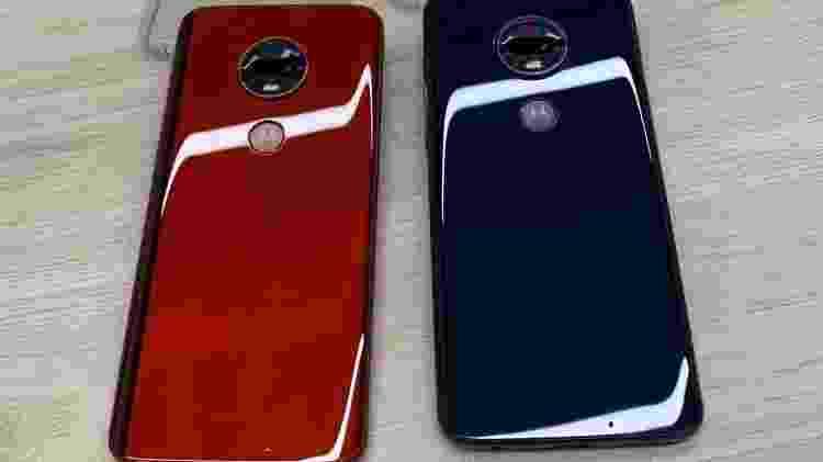 Aparelhos da nova família de smartphones da Motorola, a linha Moto G7 - Lilian Ferreira/UOL