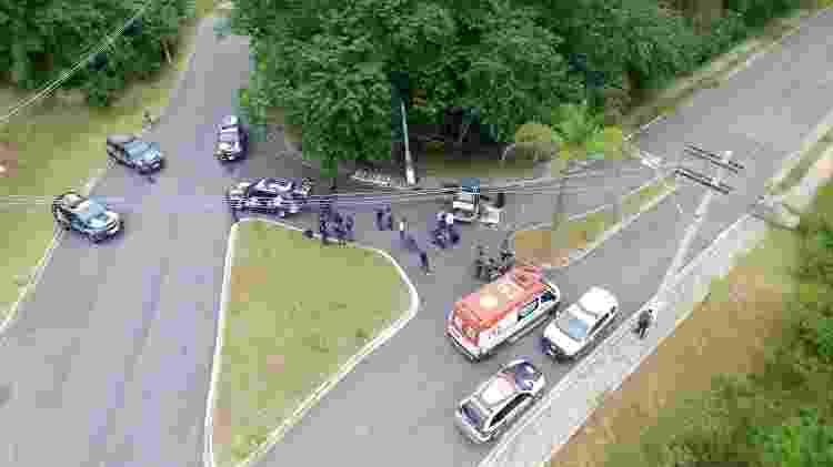 Parte da quadrilha foi abordada pela polícia durante a fuga e foi morta - Jonny Ueda/Futura Press/Estadão Conteúdo