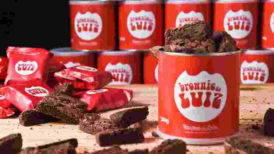O Brownie do Luiz vende a linha Veneno da Lata (300 gramas), com brownies de diversos sabores - Divulgação