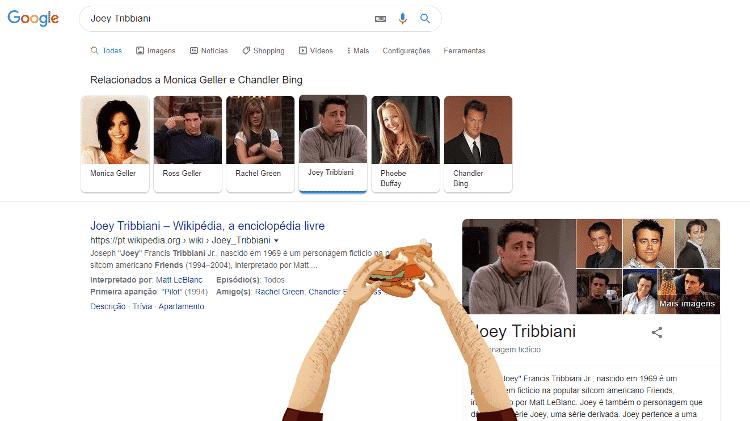 joey tribbiani - reprodução/Google - reprodução/Google