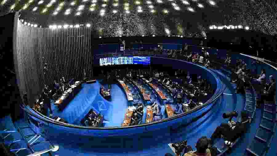 22.out.2019 - Plenário do Senado durante sessão para votar o segundo turno da Reforma da Previdência - Roque de Sá/Agência Senado