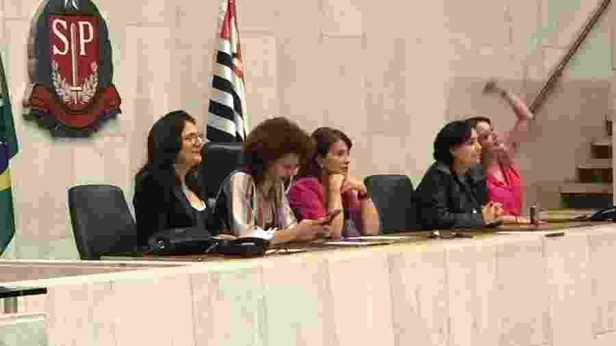 Deputadas ocupam cadeiras da presidência da Assembleia Legislativa de São Paulo - Bancada Psol / Divulgação