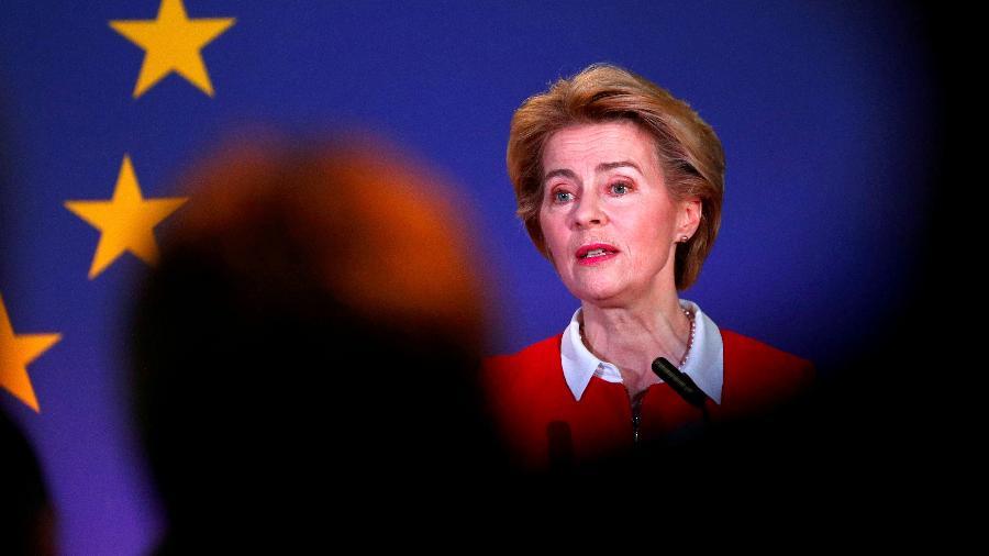 Presidente da Comissão Europeia, Ursula von der Leyen, discursa em Bruxelas -