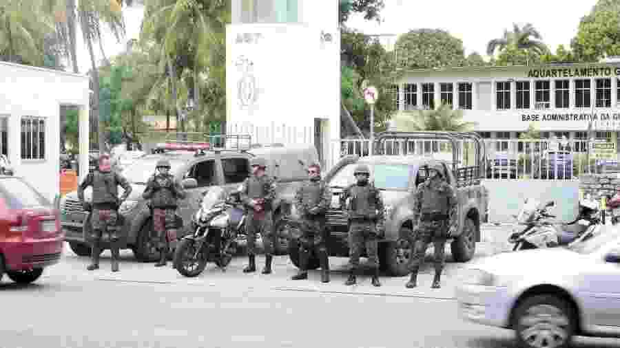 Agentes da Força Nacional da Segurança em Fortaleza (CE) - KLEBER GONÇALVES/FUTURA PRESS/ESTADÃO CONTEÚDO