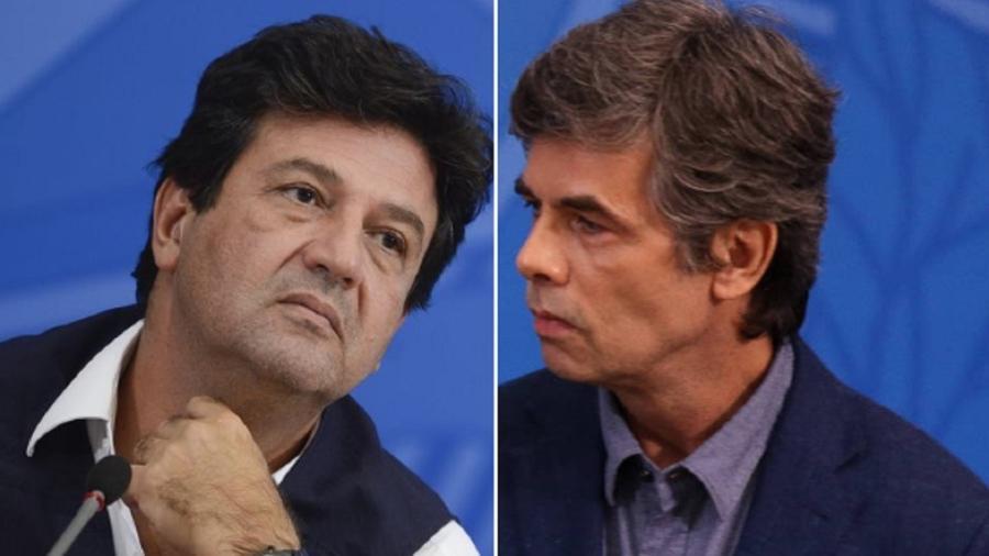 Os ex-ministros da Saúde Luiz Henrique Mandetta (à esq.) e Nelson Teich - Fotos: Marcello Casal Jr/Agência Brasil e Pedro Ladeira/Folhapress