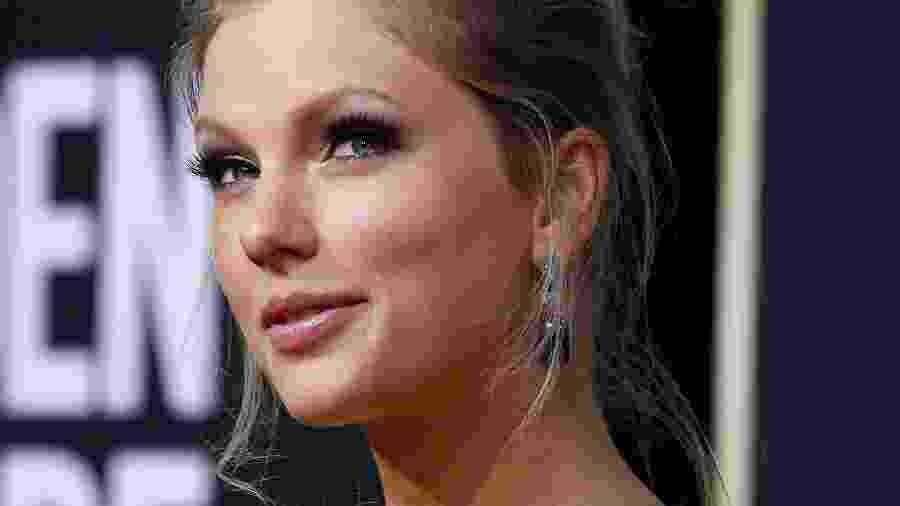 A cantora Taylor Swift durante premiação do Golden Globe - MARIO ANZUONI