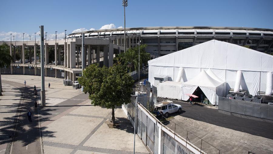 Maracanã está com hospital de campanha para a Covid-19, mas Crivella não vê problema em jogos no local - Delmiro Junior/Agência O Dia/Estadão Conteúdo