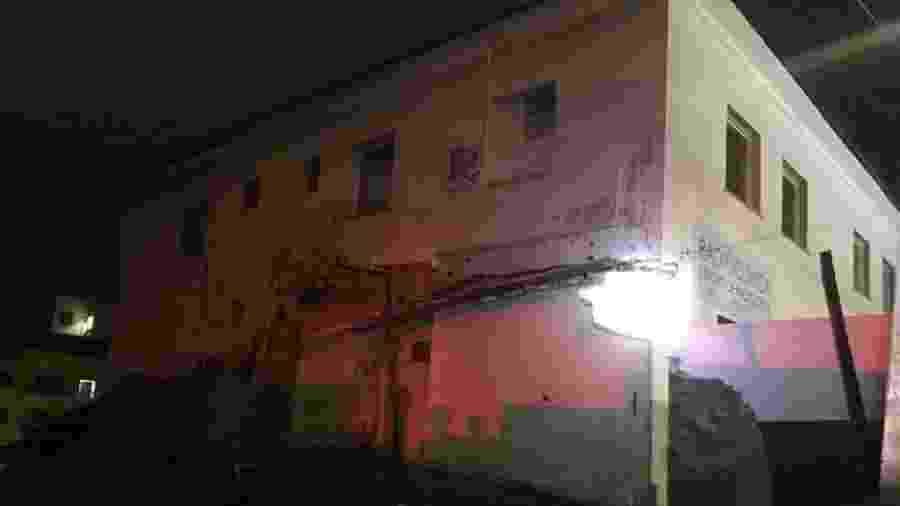 Hospital atingido por deslizamento de terras em MG - Divulgação/Corpo de Bombeiros-MG