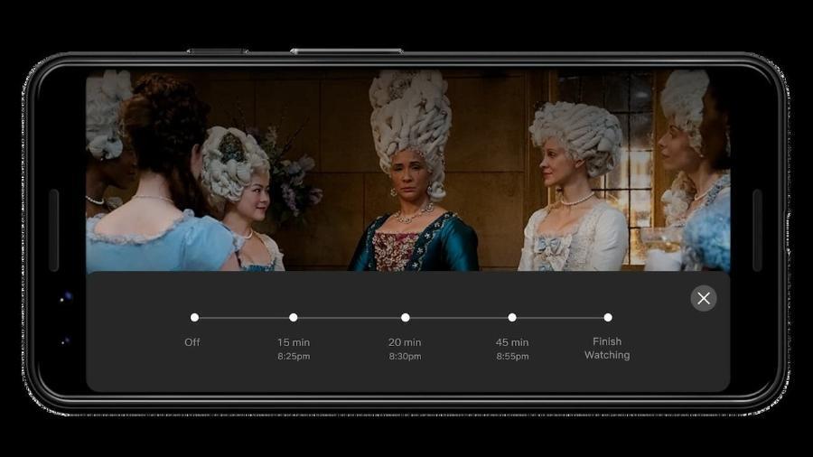 Novo recurso disponibiliza timer de 15, 30 ou 45 minutos de transmissão ou para o fim do episódio ou filme - Netflix