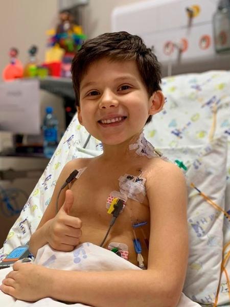 Vitor Ribas da Silva, 6, passou por um transplante de coração no interior de São Paulo em fevereiro deste ano - Divulgação/HCM
