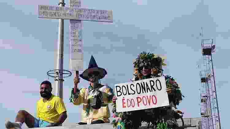 Apoiadores de Jair Bolsonaro na região do Parque Olímpico, no Rio de Janeiro; presidente participará de passeio de moto - Igor Mello/UOL - Igor Mello/UOL