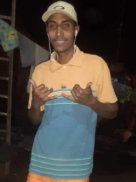 O marceneiro Clayton Alexandro Soares Teixeira, atingido por explosivos deixados por quadrilha em Araçatuba (SP) - Arquivo pessoal