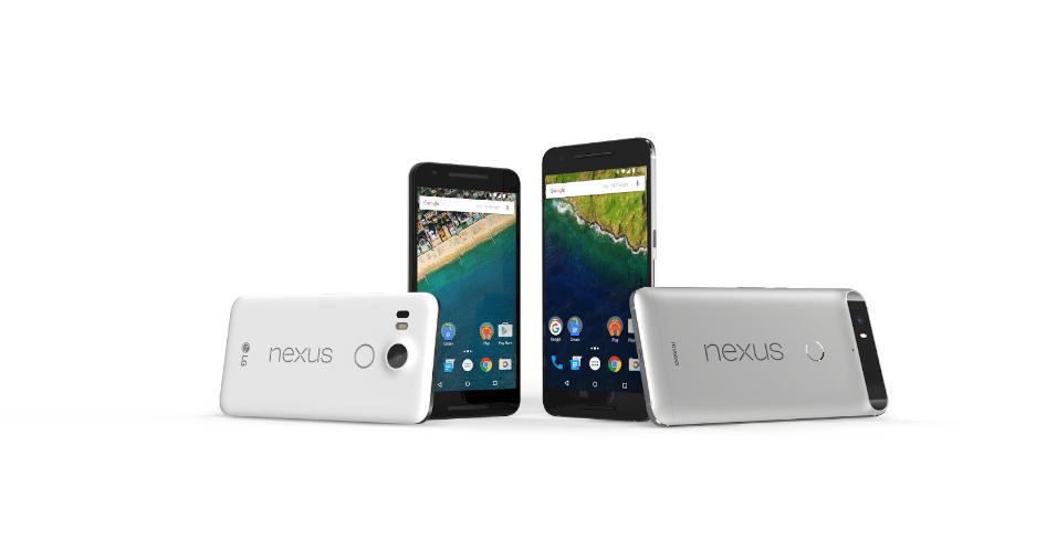 29.set.2015 - Novos celulares da linha Nexus da Google: o Nexus 5X e o topo de linha 6P, lançados em evento em San Francisco