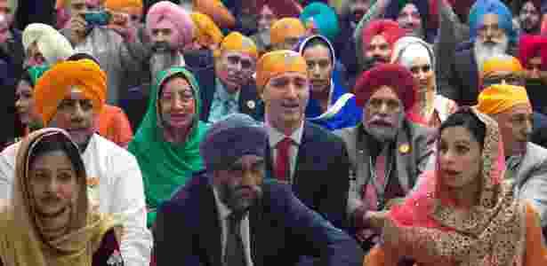 Prêmie do Canadá, Justin Trudeau, em evento com a comunidade Sikh no Canadá - Reprodução/Twitter @justintrudeau - Reprodução/Twitter @justintrudeau