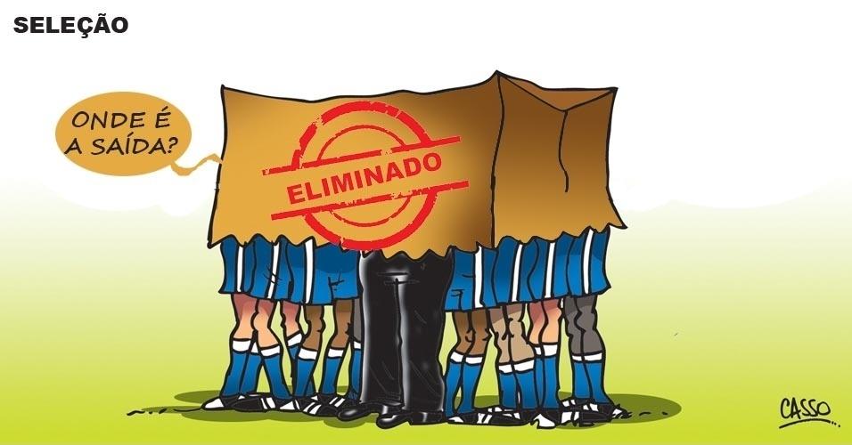 14.jun.2016 - Seleção brasileira procura saída após eliminação na Copa América
