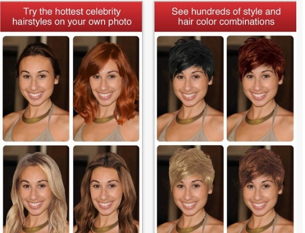 Com uma foto sua, é possível testar diferentes estilos de corte e cores de cabelo