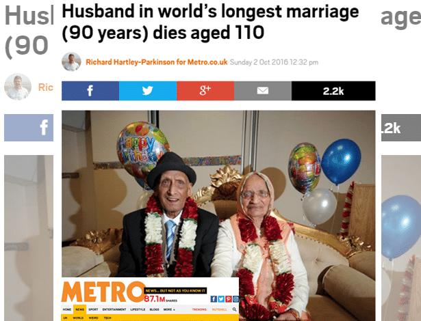 Karam e Kartari casaram em 1925. Haja amor e paciência, não?